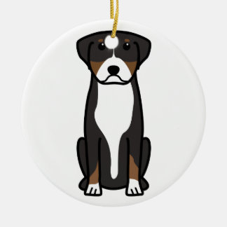Greater Swiss Mountain Dog Cartoon Christmas Ornaments
