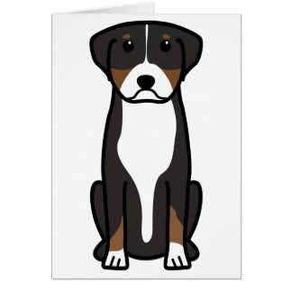 Greater Swiss Mountain Dog Cartoon Note Card