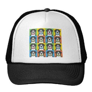Greater Swiss Mountain Dog Cartoon Pop-Art Mesh Hat