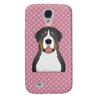 Greater Swiss Mountain Dog Cartoon Samsung Galaxy S4 Covers