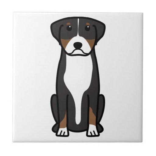 Greater Swiss Mountain Dog Cartoon Tiles