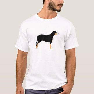 greater swiss mountain dog color silhouette T-Shirt