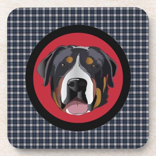 GREATER SWISS MOUNTAIN DOG COASTERS