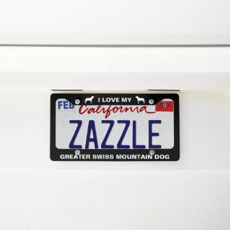 Greater Swiss Mountain Dog Custom Licence Plate Frame