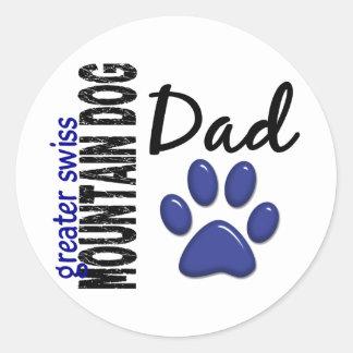 Greater Swiss Mountain Dog Dad 2 Round Sticker