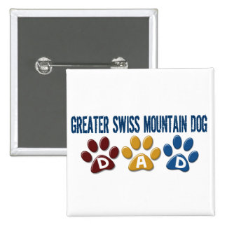GREATER SWISS MOUNTAIN DOG Dad Paw Print 1 Pin