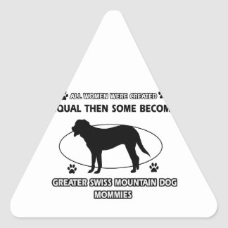 Greater swiss mountain dog designs triangle stickers