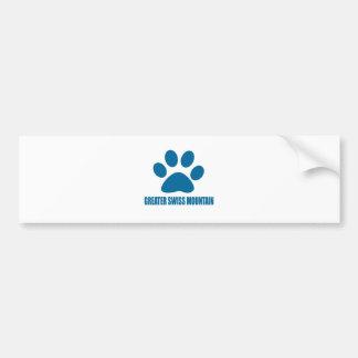 GREATER SWISS MOUNTAIN DOG DOG DESIGNS BUMPER STICKER