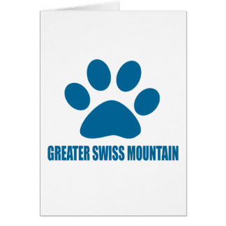GREATER SWISS MOUNTAIN DOG DOG DESIGNS CARD