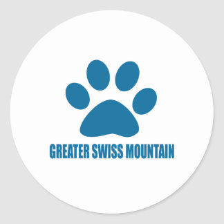 GREATER SWISS MOUNTAIN DOG DOG DESIGNS CLASSIC ROUND STICKER