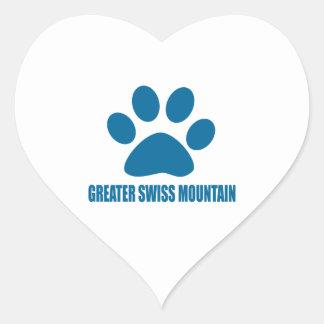 GREATER SWISS MOUNTAIN DOG DOG DESIGNS HEART STICKER