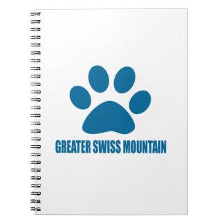 GREATER SWISS MOUNTAIN DOG DOG DESIGNS NOTEBOOKS