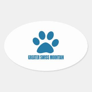 GREATER SWISS MOUNTAIN DOG DOG DESIGNS OVAL STICKER
