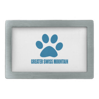 GREATER SWISS MOUNTAIN DOG DOG DESIGNS RECTANGULAR BELT BUCKLE