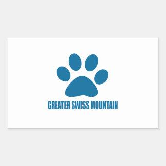 GREATER SWISS MOUNTAIN DOG DOG DESIGNS RECTANGULAR STICKER