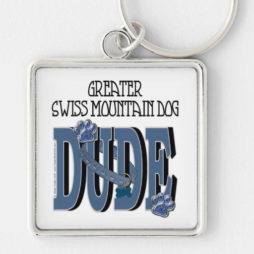 Greater Swiss Mountain Dog DUDE Keychain