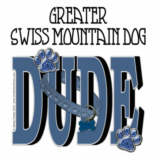 Greater Swiss Mountain Dog DUDE Photo Cut Outs
