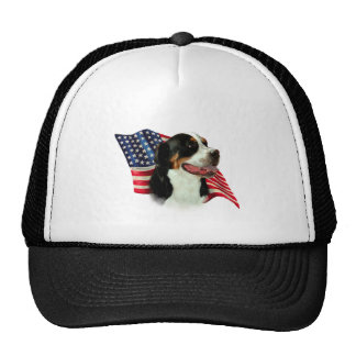 Greater Swiss Mountain Dog Flag Hats