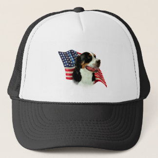 Greater Swiss Mountain Dog Flag Trucker Hat
