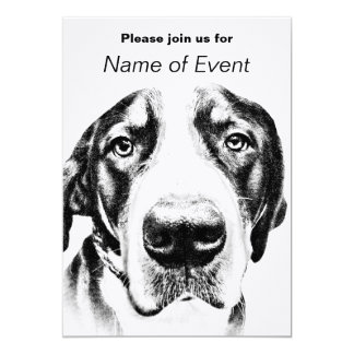 "Greater Swiss Mountain Dog 5"" X 7"" Invitation Card"