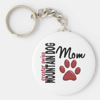 Greater Swiss Mountain Dog Mom 2 Basic Round Button Key Ring