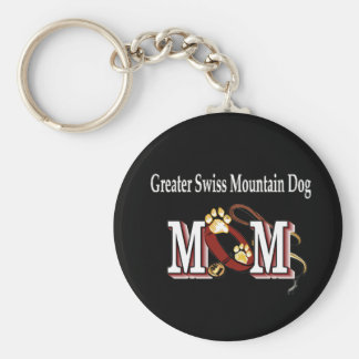 Greater Swiss Mountain Dog MOM Gifts Basic Round Button Key Ring