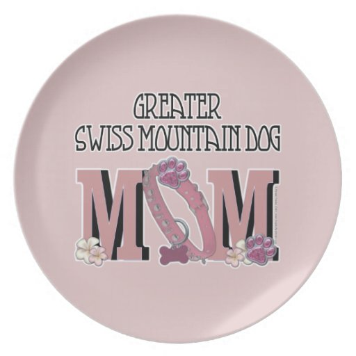 Greater Swiss Mountain Dog MOM Party Plate