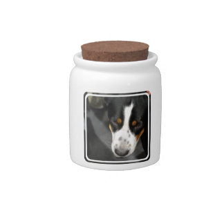 Greater Swiss Mountain Dog Puppy  Candy Jar
