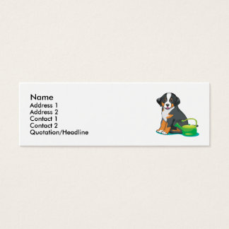Greater Swiss Mountain Dog Puppy Mini Business Card