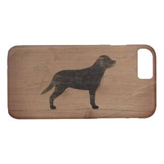 Greater Swiss Mountain Dog Silhouette Rustic iPhone 8/7 Case
