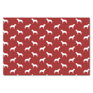 "Greater Swiss Mountain Dog Silhouettes Pattern Red 10"" X 15"" Tissue Paper"