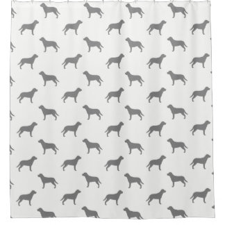 Greater Swiss Mountain Dog Silhouettes Pattern Shower Curtain
