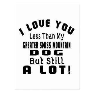 GREATER SWISS MOUNTAIN DOGFUNNY DESIGNS POSTCARD