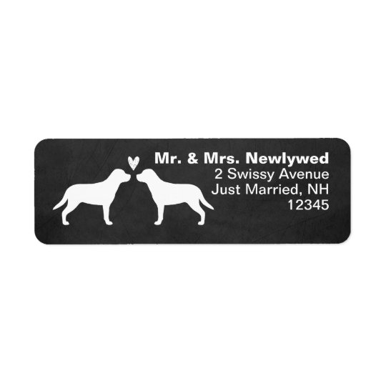 Greater Swiss Mountain Dogs Couple Return Address Label