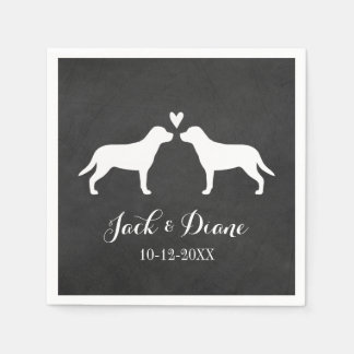 Greater Swiss Mountain Dogs Wedding Couple Disposable Napkins