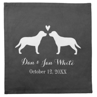 Greater Swiss Mountain Dogs Wedding Couple Napkin