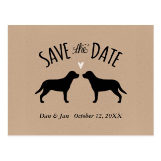 Greater Swiss Mountain Dogs Wedding Save the Date Postcard