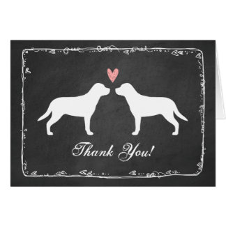 Greater Swiss Mountain Dogs Wedding Thank You Card