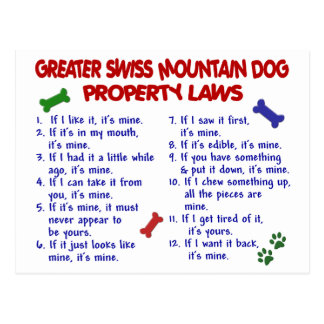 GREATER SWISS MOUNTAIN Property Laws 2 Postcard