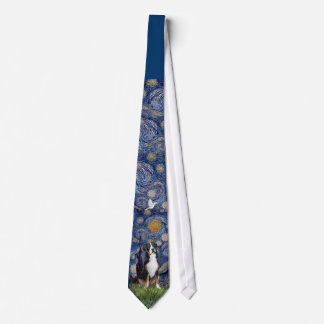Greater Swiss Mt Dog - Starry Night Tie
