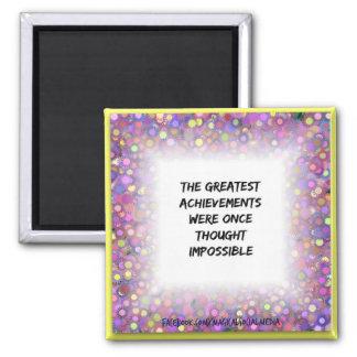 """Greatest Achievements 2"""" Square Magnet"""