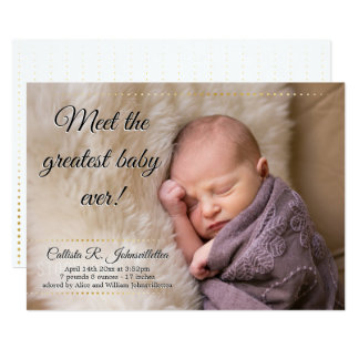 Greatest Baby Ever   Birth Announcement