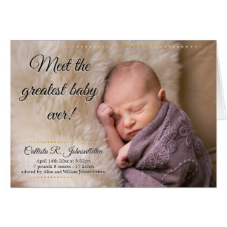 Greatest Baby Ever   Greeting Card