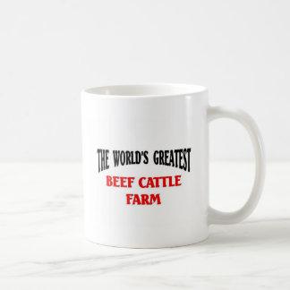 Greatest Beef Cattle Farm Basic White Mug