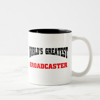 Greatest Broadcaster Two-Tone Mug