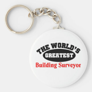 Greatest Building Surveyor Basic Round Button Key Ring