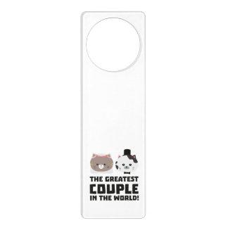 Greatest Cat Couple in the world Zd2n1 Door Hanger
