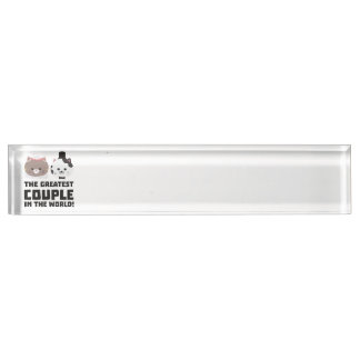 Greatest Cat Couple in the world Zd2n1 Name Plate