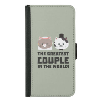 Greatest Cat Couple in the world Zd2n1 Samsung Galaxy S5 Wallet Case
