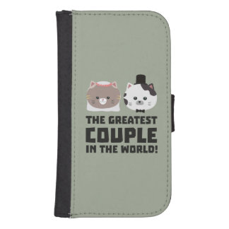 Greatest Cat Couple in the world Zd2n1 Samsung S4 Wallet Case